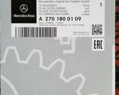 Genuine Mercedes-Benz Oil Filter + Gaskets (2701800109)