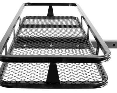 """New 2"""" Hitch Mount Cargo Carrier Luggage-hauler Basket (hcb-4818)"""
