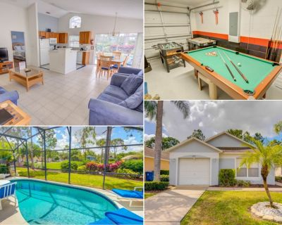 Golf Views Heatable Pool Games Room Tile and Wood Floors - Southern Dunes - Haines City