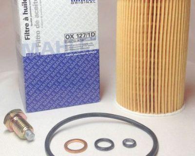 Bmw Oem Mahle Oil Filter Kit & Magnetic Oil Drain Plug Z3 1.9 Roadster M44