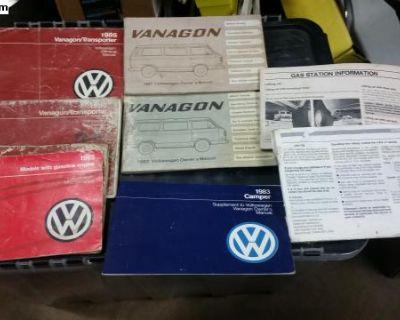Various Vanagon Owners Manuals