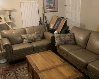 Genuine Leather Couch/Loveseat