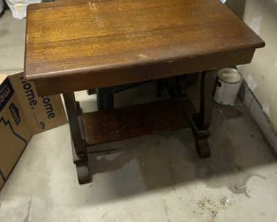 Make offer Must notify me this morning if wanted Solid walnut post office desk