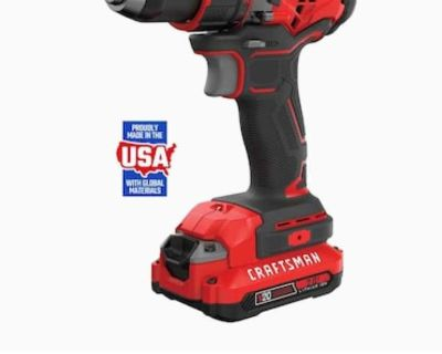 CRAFTSMAN V20 20-Volt Max 1/2-in Brushless Cordless Drill (2-Batteries and charger Included) Never Opened
