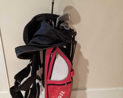 Voit XP Junior Golf Set for Boys Ages 8-12 Clubs & Stand Bag