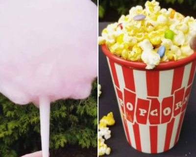 Popcorn & Cotton Candy Machine price is for both of them(rental only)
