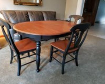 Canadel Kitchen Dining Table & Chairs Solid Wood Set
