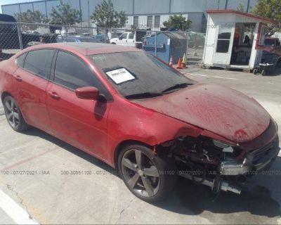 Salvage Red 2015 Dodge Dart