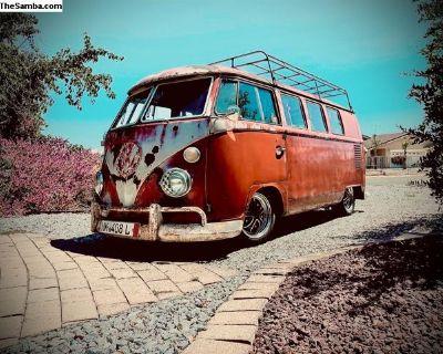 1964 VW Bus Camper interior Rat Rod Beauty