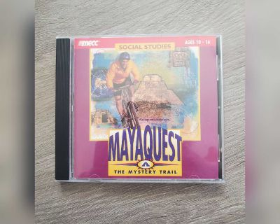 Maya Quest The Mystery Trail vintage computer game