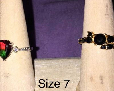 .925 Sterling silver rings size 7