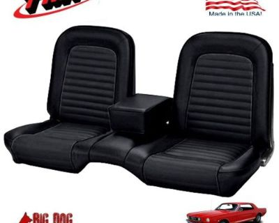 1966 Ford Mustang Black Front And Rear Bench Seat Upholstery Made In Usa By Tmi