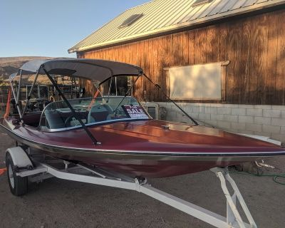 price reduce $1000. 16' checkmate motor boat with trailer and 85 horse 2 stroke lots of upgrades