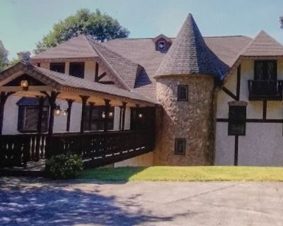 8k sf Castle,<4 mi to LakePoint, Private, Gated with Mountain & Creekside Views - Cartersville