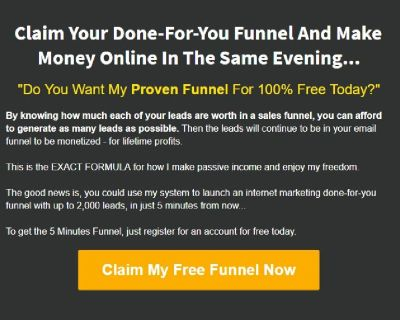 """""""Do You Want My Proven Funnel For 100% Free Today?"""""""