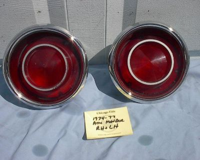 Amc Matador Coup Tail Lights With Lenses Rh And Lh Good Condition