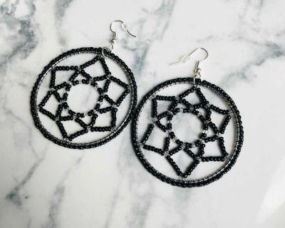 Handmade Beaded Dreamcatcher Earrings