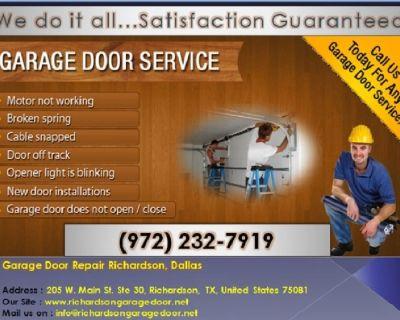 Top Most Rated Garage Door Opener Repair and Installation Richardson, TX – Just $25.95