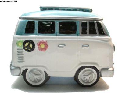 Ceramic Cookie Jar Bus