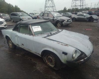 Salvage Gray 1976 Fiat Spider