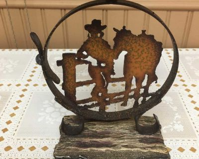 Rustic western candle holder