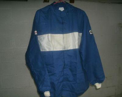 New Safequip 2pc Fire Suit Large Race Racing Banox Fr3 Firesuit Blue Sfi 3-2a/1