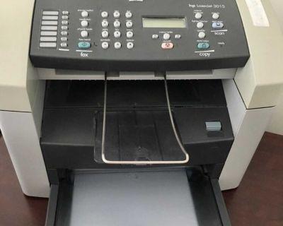 HP LaserJet 3015 Printer Fax Copier All in One