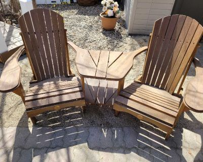 Cedar double chair with table (have 2)