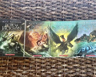 Percy Jackson by Rick Riordan books 1-4 briargate and powers