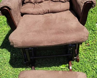 Perfect condition glider with ottoman