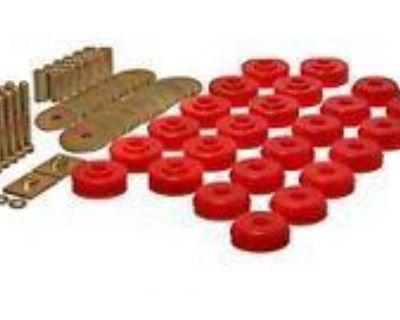 Universal Polyurethane Body To Frame Mount Bushing Set (12 Location Set) - Red