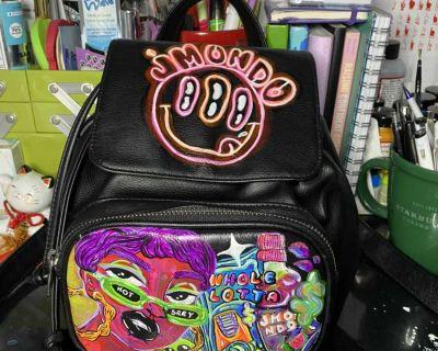 Handpainted Mini Backpack