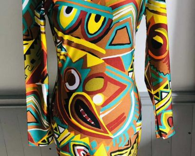 Beautiful colourful made in Italy dress