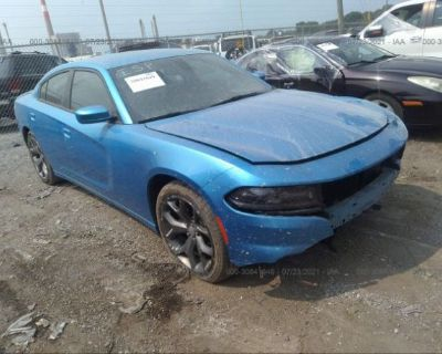 Salvage Blue 2015 Dodge Charger
