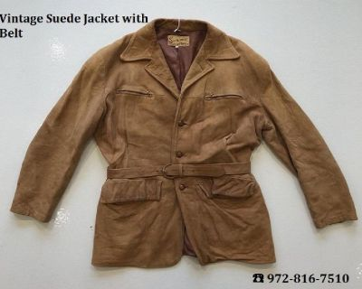 Vintage Suede Jacket with Belt Online at Blue Jean Baby