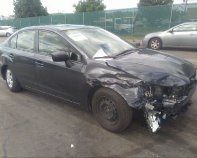 Salvage Gray 2016 Subaru Impreza Sedan