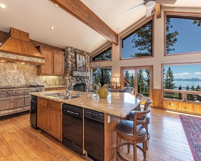 Panoramic View, 6000 sq ft, Movie Theater, Bocce Ball Court, Pool Table, Hot Tub - Incline Village