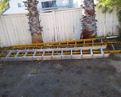 Ladders 22 ft alum & 24ft fiber extendable