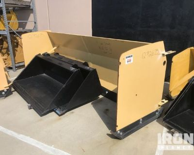 12' Snow Pusher Attachment - Fits Backhoe Loader