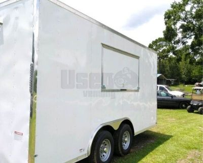 Brand New 2021 - 8.5' x 16' Empty Food Concession Trailer