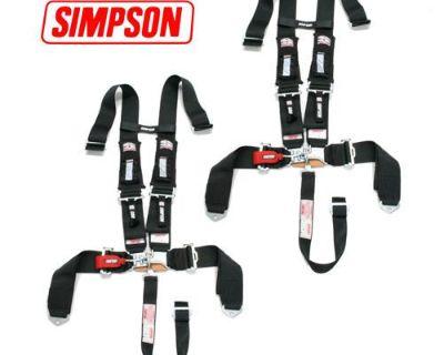 2 Sand Rail Car Simpson 5pt H Harness Seat Belt D3 Style Harness 3x3 W/pads Blk