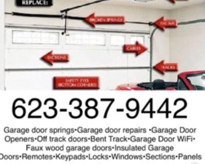 Garage Door & Gate Repair + Install garage door springs WiFi garage door openers remotes 6233879442
