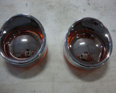 Big Dog Turn Signal Mirror Amber Lens Pair Visor W/ Side Marker Front Or Rear
