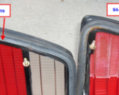Part Number Location & European Tail Light Part Numbers