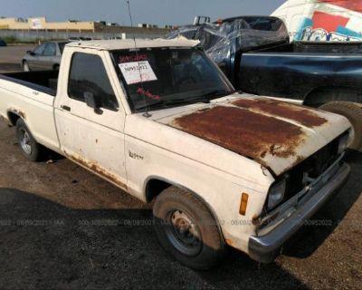 Salvage White 1988 Ford Ranger