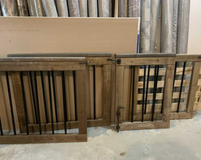 Treated Wooden and Wrought Iron Deck Doors