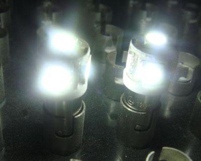 50x Ba9s 5smd Led Light Bulbs 6000k Xenon White 5050 W6w T4w Hi Power 6253