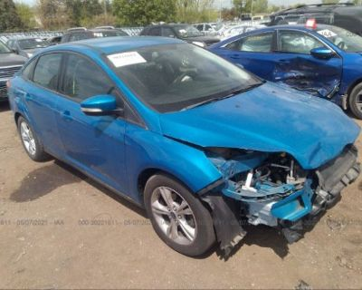 Salvage Blue 2014 Ford Focus