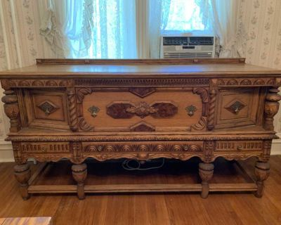 Dining Room Antique table with 6 chairs & buffet
