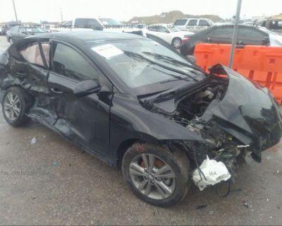 Salvage Black 2017 Hyundai Elantra